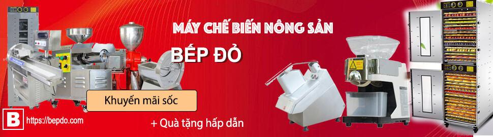 banner máy chế biến nông sản Bếp Đỏ