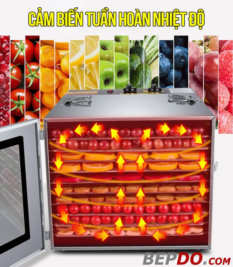 cảm biến nhiệt giúp điều chỉnh nhiệt lượng đều tuần hoàn