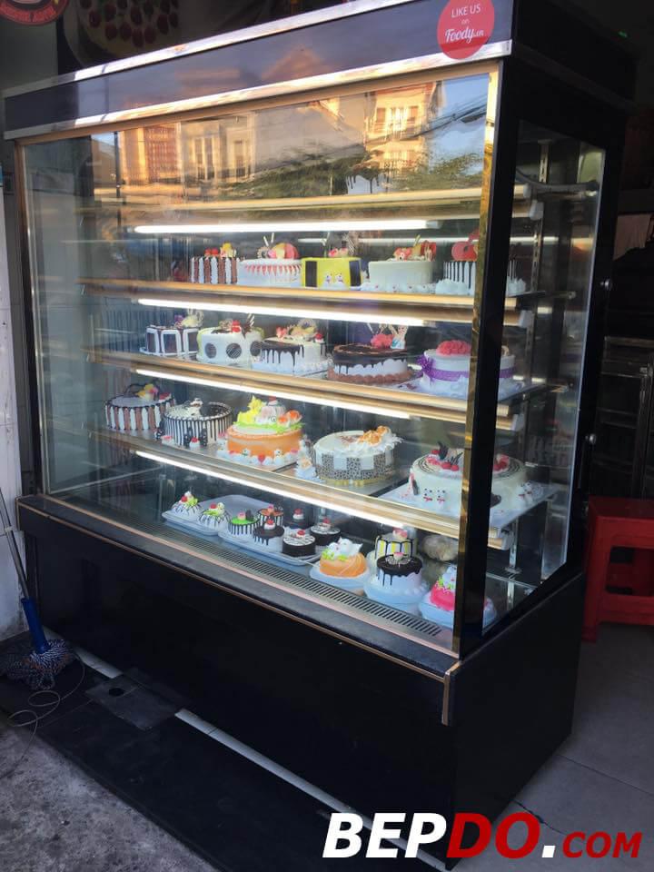 tủ bánh kem 5 tầng 1,2m đẹp mắt tinh tế