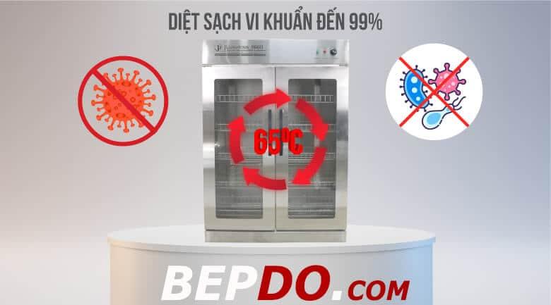 diệt sạch vi khuẩn trên chén bát với tủ sấy công nghiệp
