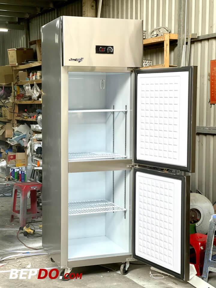 Tủ đông 2 cánh đứng 2 chế độ cho nhà hàng hcm