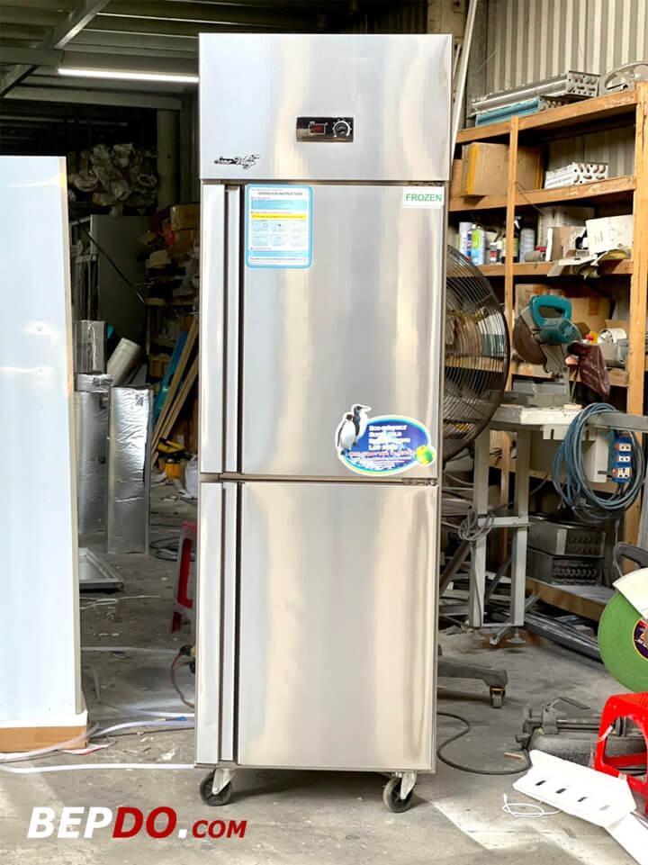 thiết kế tủ đông 2 cánh 500 lít hiện đại