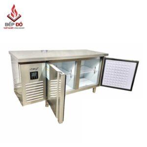 bàn lạnh nhà hàng 1.8m 2 ngăn 2 chế độ